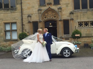 A perfect wedding car for a perfect wedding day